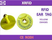 animal tracking chip - ISO11784 khz animal tag RFID animal ear tag EM4305 chip for Pig Animal Tracking Free Ship