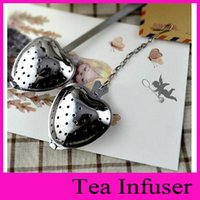 Wholesale cute love Heart Shape Stainless Steel Tea Infuser Spoon Strainer Steeper Handle Shower DHL EMS fast shipping