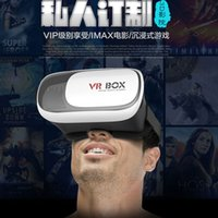 Wholesale VR BOX Google Cardboard Plastic VR BOX II Virtual Reality Headset Simulator D Glasses for IOS Android System Smartphone