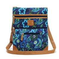 on body weight - Women Cross Body Cotton Quilting Flora Shoulder Bag IPAD Bag Mulit Pockets and Light Weighted Now on Clearance Sales