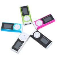 Wholesale MINI Portable MP3 Player USB Clip LCD Screen Music Player Up to GB with Earphone USB Cable reproductor de mp3