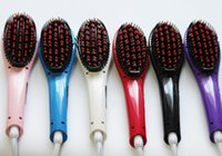 Wholesale Fast Hair Straighteners Flat Irons Straight Hair Styling Tool Comb With LCD Electronic Temperature Controls Ceramic Hair Comb