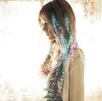Wholesale Flash Braid Luminous Light Up LED Hair Extension Party Hair Glow Fiber Surprise Price By DHL