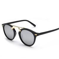 acrylic mirror film - New Fashion Round Color Film Sunglasses Women Brand Designer Vintage Fashion Sport Oculos De Sol Feminino Gafas De Sol Men Sunglasses