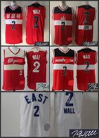 Wholesale A A High Quality new arrival Washington all star John Wall signature jersey signed for mens