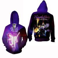 Women active teenager - Latest Prince Purple Rain zipper Jacket Print Sweatshirt Hoodies Pullover Tops D Print Pocket Sweater teenagers colleges unversities hoodie