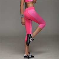 Wholesale 2016 Hot Women Yoga Pants Sport Fitness Night Running Sportswear Tights Quick Drying Compression Trousers Gym Slim Legging