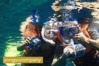 Wholesale New Dark Blue Scuba Diving Equipment Dive Mask Dry Snorkel Set Scuba mask headband mask cover