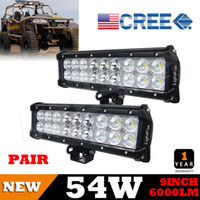 bars pickup - US Brightness X9inch W CREE Combo LED Work Light Bar Double Row Black Mounting Bracklet W WD SUV Driving For Pickup Wagon