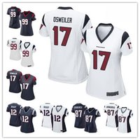Wholesale new Texans Women s Elite football jerseys Brock Osweiler Watt Patriots Tom Brady Rob Gronkowski cheap rugby jerseys