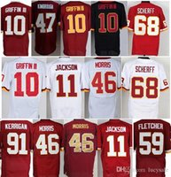Wholesale 10 Robert Griffin jersey Fletcher jersey Ryan Kerrigan Sean Taylor cana Desean Jackson red white size small S XL