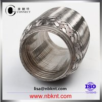 bellows joint - High quality auto stainless steel conventional braided exhaust flexible joint pipe with interlock with double layer bellows