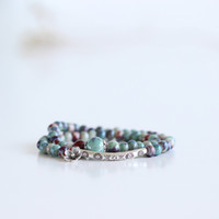 Wholesale High Creative DIY handmade ceramics beautifully about double bracelet trinkets nice bracelet for girl for kids