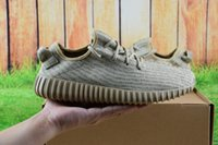 Cheap [with Box]2016 Wholesale Kanye west shoes men Yeezy 350 Boost Turtle doves grey Moonrok Pirate black oxford tan running Sports shoes outdoor