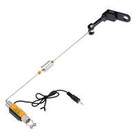 alert illuminated - Iron Fishing Bite Alarm Hanger Swinger LED Illuminated Indicator LED Light Colors Fishing Alert Reminder Warning order lt no track