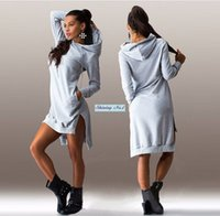 amp sweatshirt - 2016 Spring Autumn Long Sleeve Fashion Pocket Sweatshirts Women Pullover Dress Lady Hoodies amp amp Vestidos Casual Sports Clothing
