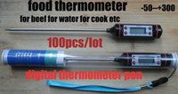 Wholesale Digital Food Thermometer Pen Style Kitchen BBQ Dining Tools Temperature Household Thermometers Cooking Termometro