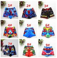 Cheap DHL Free Ship Boys Swim Trunks Spiderman Cartoon Swimsuits 9Designs Boys Summer Beachwear Kids Cartoon Swimwear