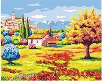 Wholesale home decoration Flower Sea G240 Hot Sale DIY digital oil painting by numbers frameless