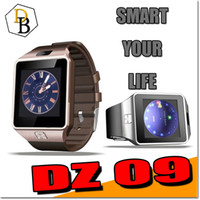 Wholesale DZ09 Smartwatch Bluetooth Smart Watch dz handfree For android iphone sim support Cellphone inch SIM Card sleep reminder call receive