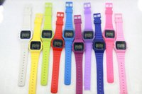 12 color choose alarm clocks buy - Manufacturer direct selling Sport watches Men Women Child F w Sport watches f91 color thin multicolour LED watch alarm clock to buy