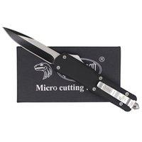 Wholesale Microtech Troodon A07 Models optional Single Edge Hunting Folding Pocket Knife Survival Knife Xmas gift for Men
