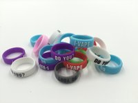 band screen printing - colorful embossed vape band Customized logo debossed embossed screen printing bulk cheap silicone vape band in stock