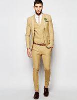 asos black - Asos Wedding Super Skinny Fit Suit In Camel Man Suit Custom Made Tuxedos Groomsman Suit Dinner Suit Wedding Suit jacket pants vest