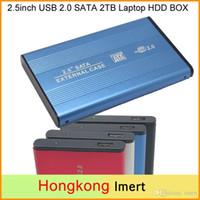 Wholesale Free DHL inch USB SATA TB External Storage Hard Disk Drive HDD Case Box Enclosure Converter Adapter Connector