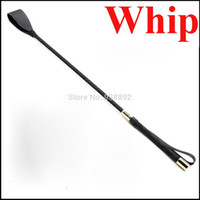 Wholesale CM Leather Riding Crop Sex Whip Aids Spanking Bondage Paddle Slave Flogger Sex Toys For Couple Adult Games