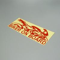 Wholesale car decals stickers Biker on board vinyl cut waterproof outdoor cm x cm car motorcycle car motorcycle