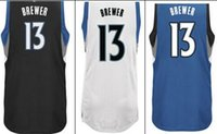 authentic brewers jerseys - Corey Brewer jersey black blue white colors Mens REV Stitched Basketball Jersey Authentic Home Road Alternate Jerseys