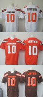 Wholesale 2016 Draft Men s CLB Robert Griffin White Orange Brown Football Jerseys Good Quality