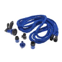 Wholesale Expandable FT Garden Hose Fittings Set Ultralight Flexible Water Pipe Faucet Connector Fast Connector Valve Spray Nozzle Blue H15222