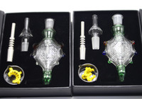 Wholesale 14mm mm Honey Straw Concentrate Honey Dab Straw Pendants Nectar Collector kit with GR2 Titanium Tip Nector Collector GR2 Nail
