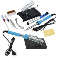 Wholesale New in Electric Solder Tool Kit Set With Iron Stand Desolder Pump V W H210366