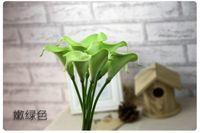 18PCS PU Real / Natural Touch Цветы Белый Калла для свадебных букетов