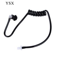air tube earbuds - Detachable air tube with earbuds tube headset replacement for Motorola two way radio acoustic tube headset replacement black cb radio yeasu