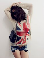 american flag sweater - Women s Distressed British UK Flag Print Hole Knit Sweaters Oversized Knitwear Jumper Tops Knitted Pullover Colors