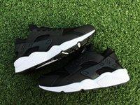 Wholesale Famous Air Huarache Men Sport Shoes Black White Sneakers Huaraches Sneakers Men Huraches Shoes