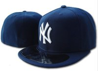 baseball field sizes - New Hats Fitted Caps Baseball on Field Hat Navy Blue Color New York NY All Size Mix Match Order All Caps High Quality Hat