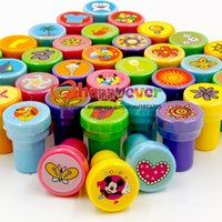 Wholesale 36PCS Self ink Stamps Kids Party Favors Event Supplies for Birthday Party Gift Toys Boy Girl Goody Bag Pinata Fillers