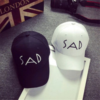Wholesale New Fashion Korean SAD Cap Men And Women Hip Hop Skate Cap Summer Sunshade Outdoor Sports Sun Hat