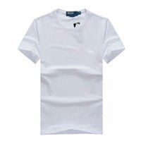 Wholesale New small horse Men s summer shirt in solid round neck short sleeve T shirt cotton T shirt men yards Slim models shipping large si