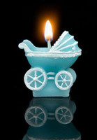 Wholesale 2016 hot sale Birthday candles cute blue cradle for girls boys candles