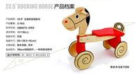 baby rocking horses - Wooden Rocking Horse Animal Kid Chair Children Baby Vintage Rocker Toy Infants Baby Kids Developmental Toy Fast Shipping ZD017