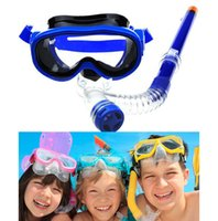 Wholesale New easy breath snorkel mask Scuba diving mask and snorkel Glasses Set Silicone Child Mask Swimming Pool Equipment Snorkel