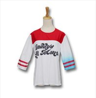 Wholesale 2016 Harley Quinn Cosplay Halloween Costumes for women Suicide Squad Harley Quinn Daddy s Lil Monster T Shirt Women t shirts