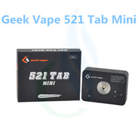 Indicador de carga de la batería Baratos-Tamaño original Geekvape 521 Tab Mini bobina maestra compacto puerto USB agregado de la batería Indicador de nivel de carga del 100% vaporizador auténtica friki