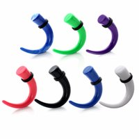 Wholesale Curved Ear Taper - 7pairs Mix Color Taper kit Acrylic Spiral Talon Claw Curved Tapers Ear Stretcher Expander Plugs Tunnels Kit 12g-00g Gauges